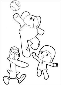 Pocoyo Coloring Pages | coloring | Pinterest | Pocoyo, Birthdays and ...