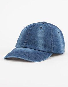 Washed Denim Womens Hat Blue