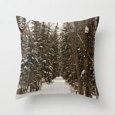 Winter White Pillow Cover Macro Photography by CrystalGaylePhoto, $35.00