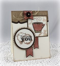 Coffee card by Julee Tilman using Better With You from Verve. #vervestamps