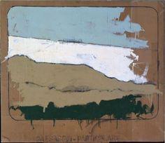 Mario Schifano . Paesaggio particolare , 1963 , Olio su Cartone , 150 x 130 cm .