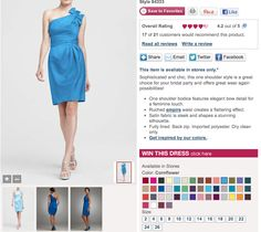 This is the cornflower color. (David's Bridal).