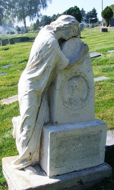 Beautiful cemetery statuary