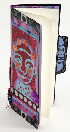 Make a Manila Folder Journal with Acrylic Painting Techniques on http://www.createmixedmedia.com