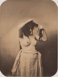 Gustave Le Gray, Standing Female Nude, ca. 1855, albumen silver print, Clark Art Institute