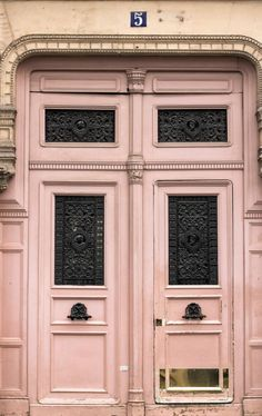 Pink Door in Paris by Rebecca Plotnick Paris, France