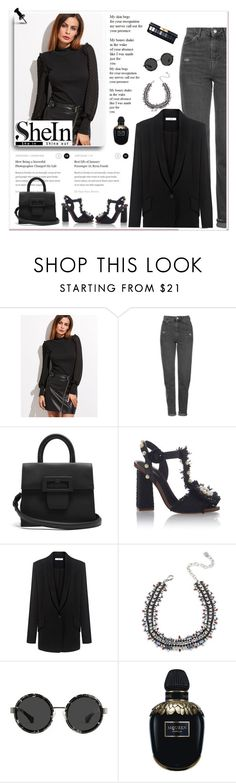 """""""Untitled #994"""" by tamara-40 ❤ liked on Polyvore featuring Topshop, Maison Margiela, IRO, DANNIJO, Alexander McQueen, shirt, blouse and shein"""