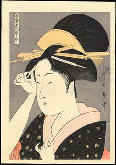 kitagawa utamaro | Woodblock Prints For Sale- Kitagawa Utamaro - Showa Era Reproductions ...
