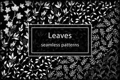 Black&White Leaves patterns set Graphics Thank you for visiting! Set of black&white elegant leaves include 26 patterns in different varia by Asyndrom