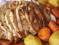 Χοιρινό μπούτι, ψητό με σκόρδο και δεντρολίβανο