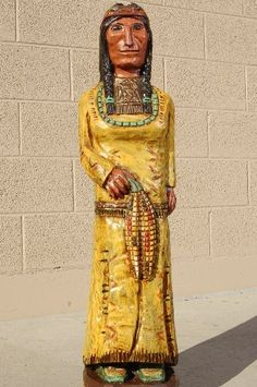 Cigar Store Wooden Indian Golden Corn Maiden by Frank Gallagher 3 Footer 0099 Mandan Indians, Cigar Store Indian, Aspen Wood, Pow Wow, Antique Stores, Real Beauty, Cigars, The Ordinary, Hand Carved