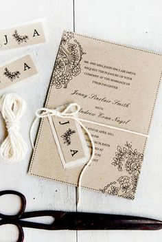 Romantic Classic Wedding Invitation DIY Digital by TheDIYStore