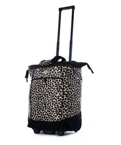Take a look at this Leopard 30 Fashion Wheeled Shopper Tote by Olympia on #zulily today!