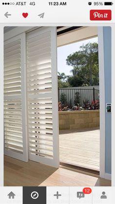 Sliding plantation shutters