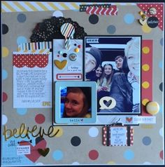 Believe In A Cure - Scrapbook.com - Made with the Simple Stories Say Cheese II collection.