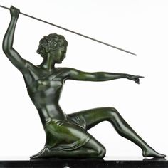 Superb 1930s French ART DECO Diane The Huntress SCULPTURE by LIMOUSIN