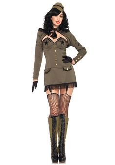 Pin Up Army Girl costume #Halloween #Sexy