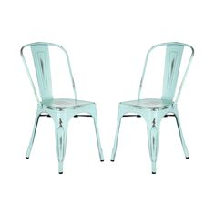 The Galvanized Steel Chair has a sleek appearance that is perfect for your urban loft ormodern-themed home. Whether outdoors or indoors, these chairs provide a chic and trendy touch.  Find the Galvanized Steel Chair - Set of 2, as seen in the Easter Brunch Collection at http://dotandbo.com/collections/set-the-scene-easter-brunch?utm_source=pinterest&utm_medium=organic&db_sku=102173