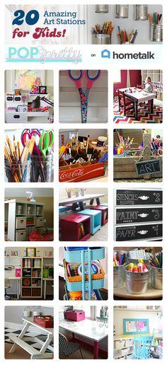 Inspiration for kids' art stations