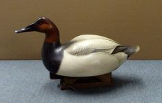 Canvasback Drake No.3 - carved by Jim Schmiedlin