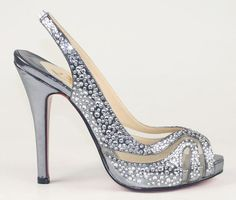 Christian Louboutin Sandals In Silver, clsell.com