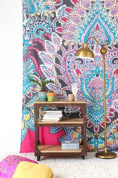 Magical Thinking Paisley Floral Tapestry. I am absolutely in LOVE with this and I need it for my apartment!