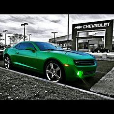 Green mean machine - Chevy Camaro