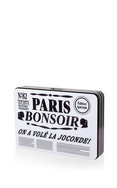 "Le ""Paris-Bonsoir"" Plexiglass Clutch by Yazbukey for Preorder on Moda Operandi"