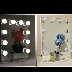 """What do u think of our """"Hollywood Glow Vanity Mirror"""" ? It's available in #silver and #white . #vanitymirror"""