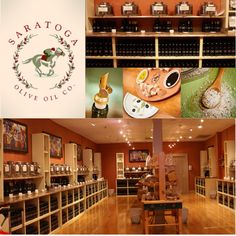 Saratoga Olive Oil • 484 Broadway Ave, Saratoga Springs, NY 12866 • 518-450-1308 • A really unique place! Almost like a vineyard's tasting room but for foodies! You have the chance to sample 100's of Olive Oils, Balsamic Vinegars and Sea Salts.