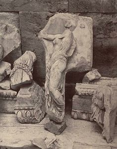 Fragments of Frieze (Greek, Fifth Century B. C.)Photographer: William James Stillman. 1869 Cornell University Library
