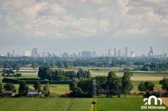 Rotterdam skyline seen from the Hoeksche Waard (Numansdorp, 2009)