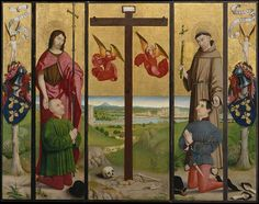 Nicolas Froment(1430–1484) The Pérussis Altarpiece polyptych;  Date1480MediumOil and gold on woodDimensionsThree panels, each 54 1/2 x 23 in. (138.4 x 58.4 cm)