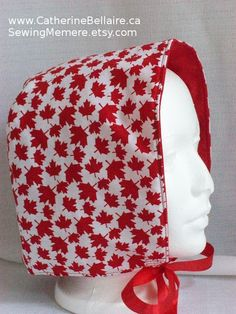 $10.00 Canada Day women summer hat SewingMemere.etsy.com  http://www.CatherineBellaire.ca