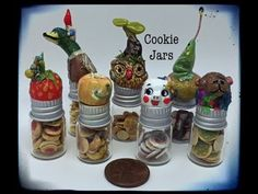 Polymer Miniature Cookie Jars - YouTube