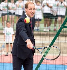 10 Hysterical Photos of Celebrities Trying Their Best at Sports - Prince William—Tennis from InStyle.com
