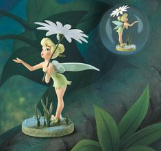 "Tinker Bell ""A Splash of Spring"" sculpted by Jacqueline Perreault Gonzales - Upcoming 2012 Spring Event Sculpture."