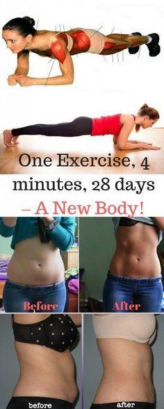 One Exercise, Four Minutes, 28 Days, New Body via @globalpublichealth