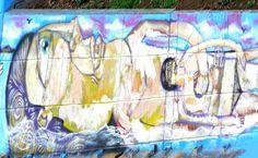 Street Art on 23 de Maio Avenue, Sao Paulo. See the complete graffiti set in http://www.psyche.com.br