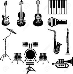 3104834-A-vector-icon-set-of-musical-instrument-simple-outline-silhouettes--Stock-Vector.jpg (1293×1300)