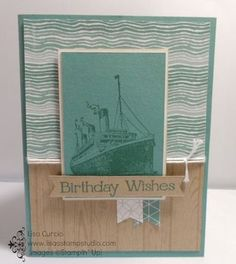 Where are you traveling to this summer? Stampin' Up!, Traveler, ship, cruise, vintage, Titanic, paper craft, scrapbook, banner, birthday
