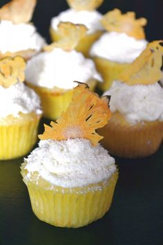 Pina Colada Cupcakes   Cooking in Red Socks