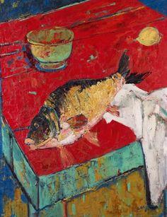 Nature morte au poisson et citron
