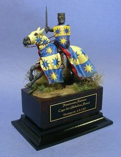 Provenzano Salvani, head of the Ghibelline party of Siena. Military Figures, Fantasy Miniatures, Figure Model, Toy Soldiers, Paladin, Middle Ages, Knight, Action Figures, Concept Art