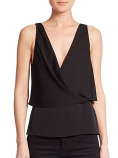 THEORY Alizay Layered Silk Tank Top. #theory #cloth #top