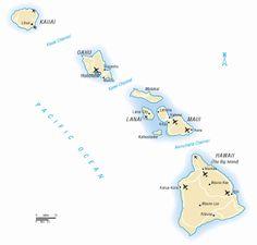 Map of hawaii Map Of Hawaii, Hawaii Vacation, Hawaii Travel, Super Healthy Recipes, Healthy Foods To Eat, Hawaii Destinations, Hanalei Bay, Life Lyrics, Big Island