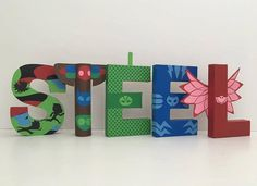 PJ Masks Paper Mache Letters by SugarLagoonParties on Etsy