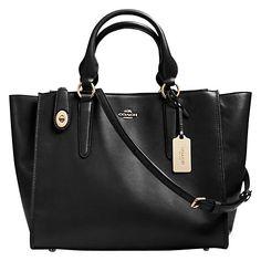 Buy Coach Crosby Leather Shoulder Bag Online at johnlewis.com