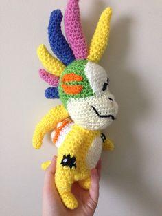 Lemmy Koopa is one of the Koopalings from the Mario Games - Free Amigurumi Pattern here: http://yarnisomerase.wordpress.com/2014/10/31/lemmy-koopa-crochet-pattern/