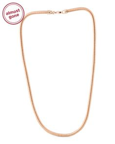 Made In Italy 18k Rose Gold Plated Bronze Necklace